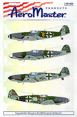 Last of the Breed Messerschmitt Bf 109K Pt 2 (4) Yellow 8 II/JG3; Stab II/JG52; Black 265 Unknown Unit; White 16 III/JG53