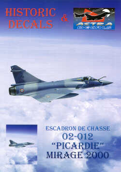 Mirage 2000 Esc.01/012 Cambrai. Decals for any squadron aircraft and 16 page booklet