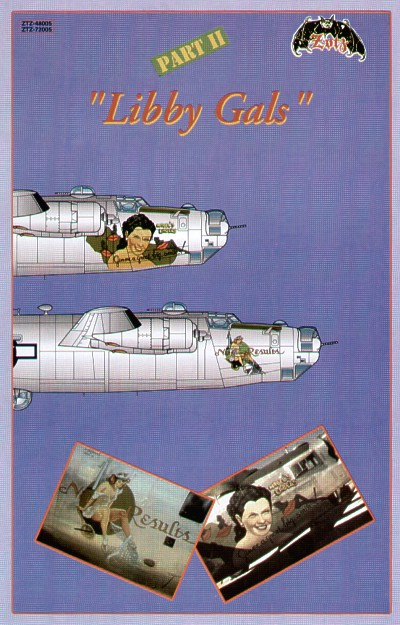 Libby Gals Pt 2 (2) B-24M 44-50853 64BS/43BG 'Mabel's Labels/Gimme a great big smile'; 44-41875 528BS//380BG 'Net Results'. Both 5th AF